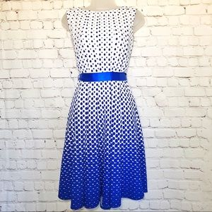 Haani petite white blue vintage dress small